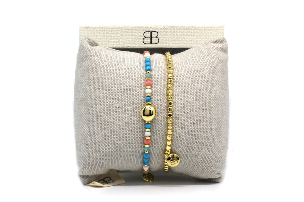 Sofia Multi 2 Layered Bracelet Stack - Boho Betty