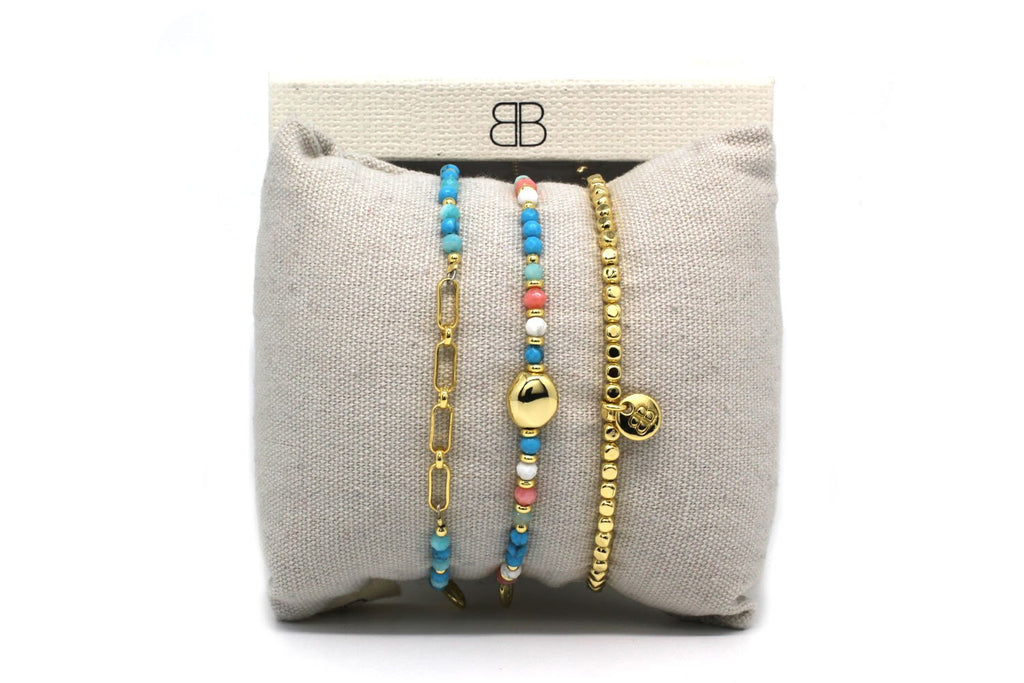 Volos 3 Layered Bracelet Stack - Boho Betty