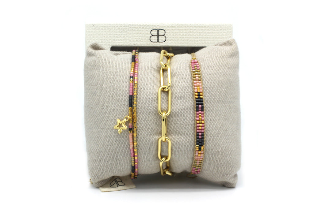 Frankfurt 3 Layered Bracelet Stack - Boho Betty