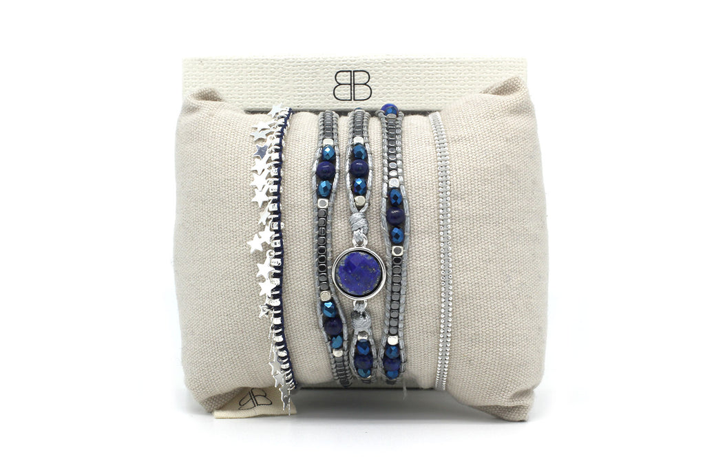 Philidelphia Silver 3 Layered Bracelet Stack - Boho Betty