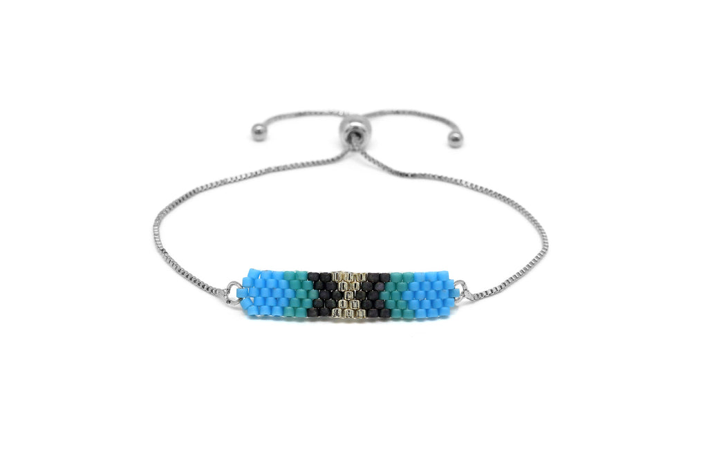 Swing Blue Beaded Friendship Bracelet