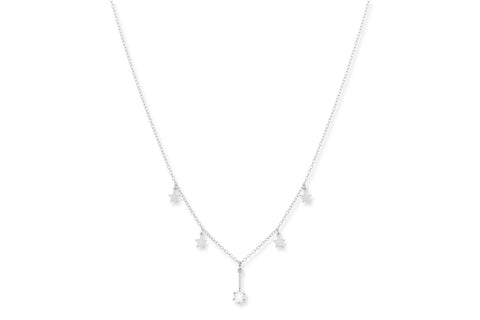 Tawny Silver CZ Star Necklace