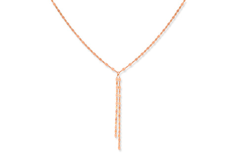 Traminer Rose Gold oval chain link Necklace
