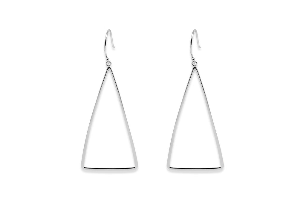 Tani Silver Triangle Earrings