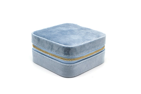 Taranto Blue Velvet Jewellery Box