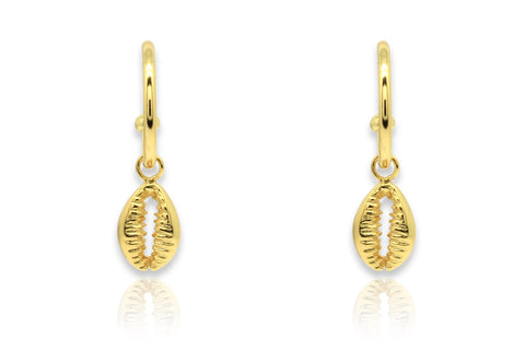 Tatyana Gold Shell Hoop Earrings