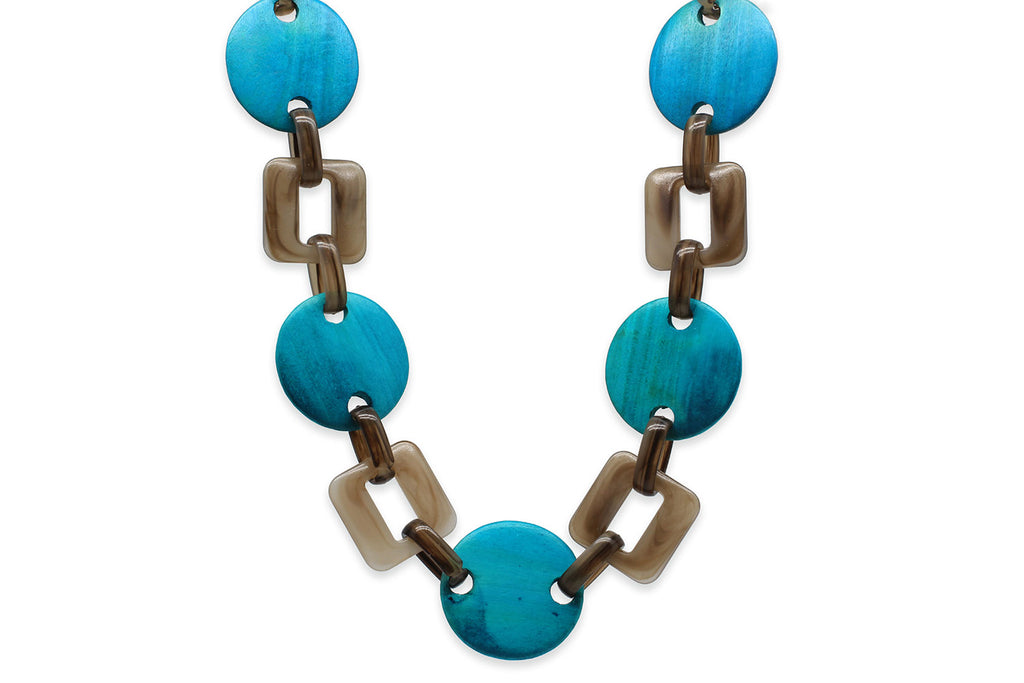 Themis Blue Linked Chain Necklace