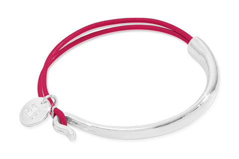 Vilaine Bright Pink & Silver Bangle