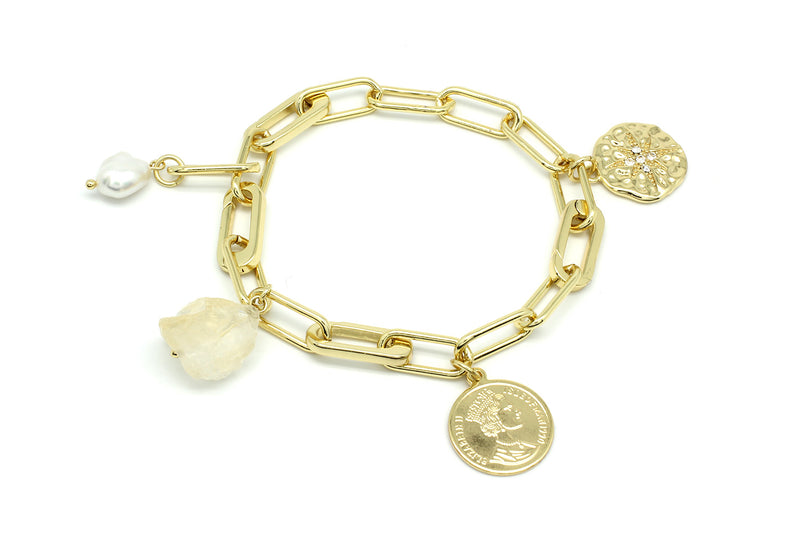 Wahoo Gold Chain Bracelet with Charms - Boho Betty