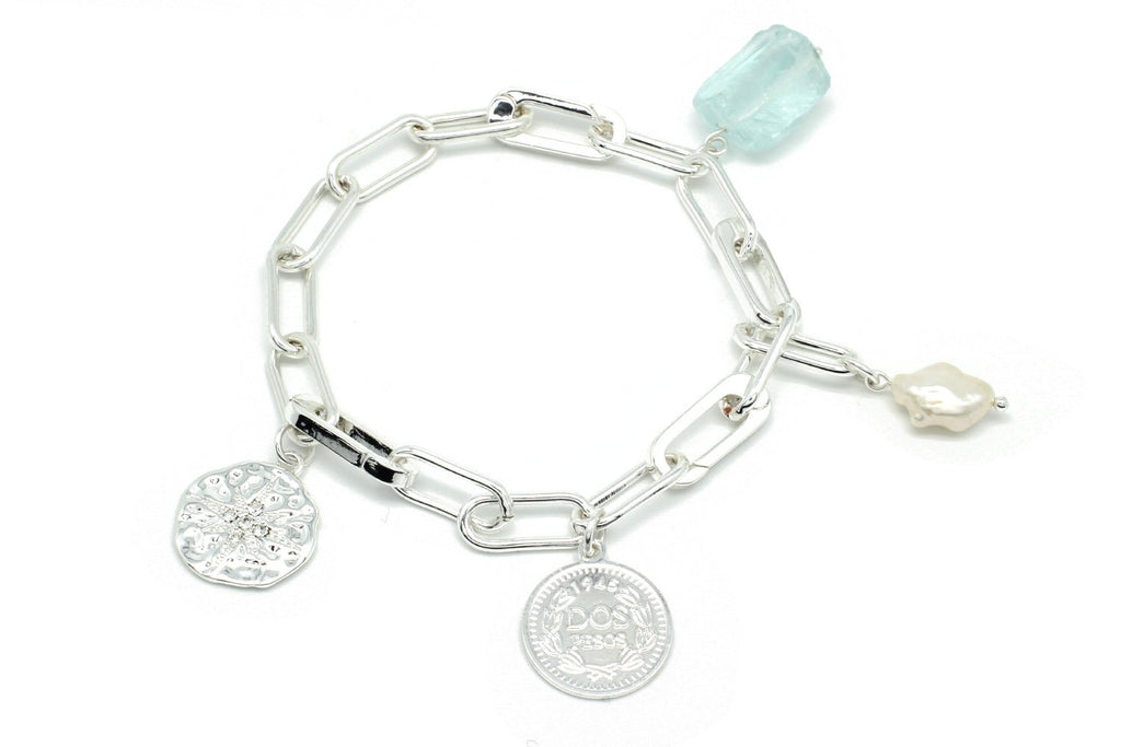Wahoo Silver Chain Bracelet with Charms - Boho Betty