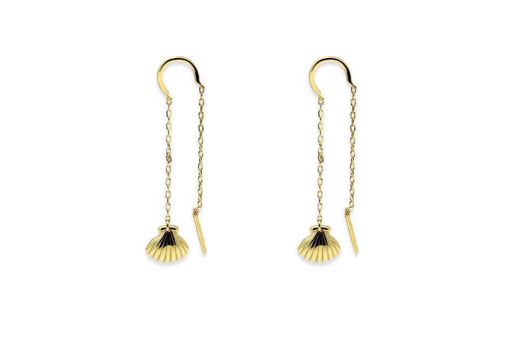 Wynter Gold Shell Drop Earrings