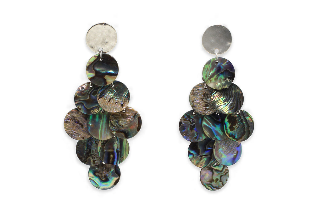Yowla Blue Mother of Pearl Earrings