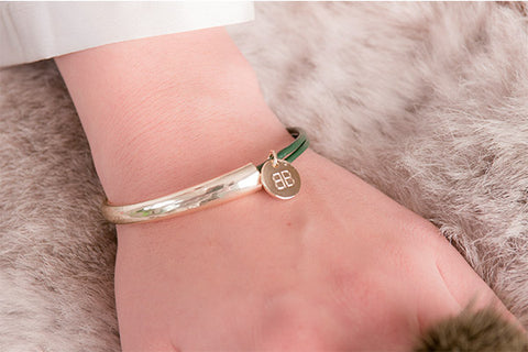 Andelle Green Leather Bangle