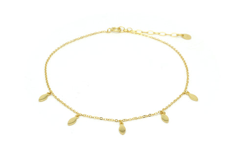 Lohan Gold Cowrie Shell Anklet