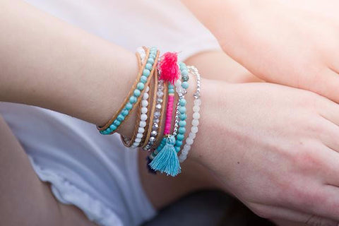 Aster 2 Wrap Stretch Bracelet