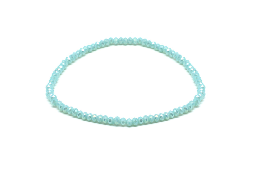 Reel6 Aqua Crystal Stretch Bracelet