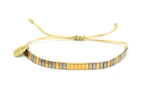 Runaway Tila Beaded Friendship Bracelet
