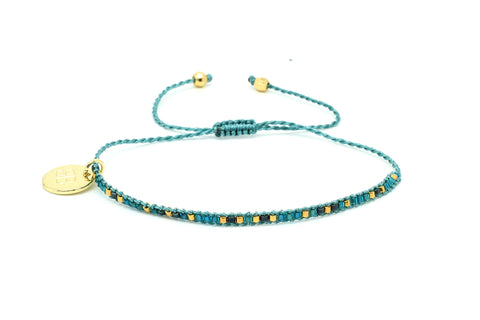 Aloha 1 Row Teal Beaded Bracelet