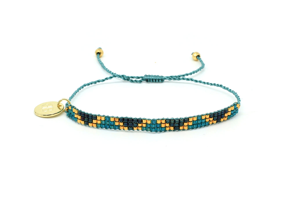 Aloha 3 Row Teal Beaded Bracelet - Boho Betty