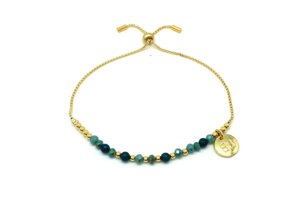 Apinti Teal Jade Friendship Bracelet - Boho Betty