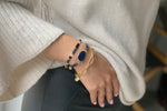 Delicado Midnight Blue Tila Bead Stretch Bracelet - Boho Betty