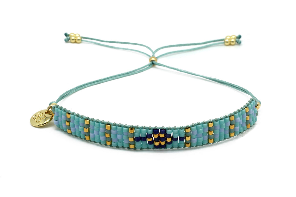 Matira Blue Beaded Friendship Bracelet - Boho Betty