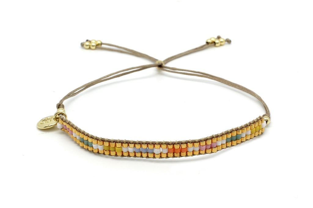 Finesse Multicolour Beaded Friendship Bracelet - Boho Betty