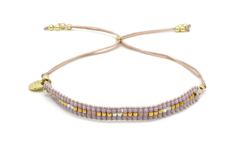 Fancy Pink Beaded Friendship Bracelet - Boho Betty