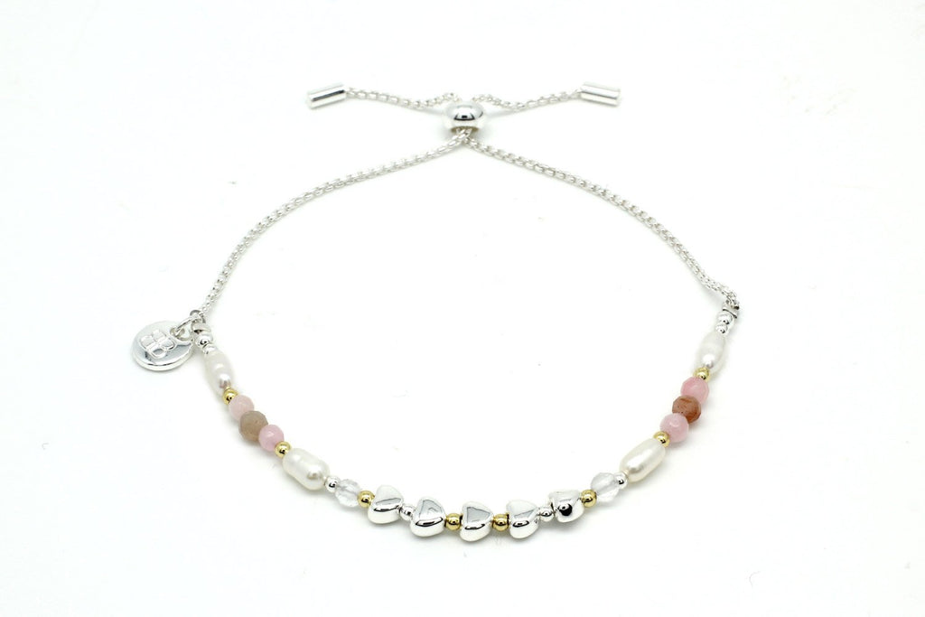 Pretty Bay Silver Friendship Bracelet - Boho Betty