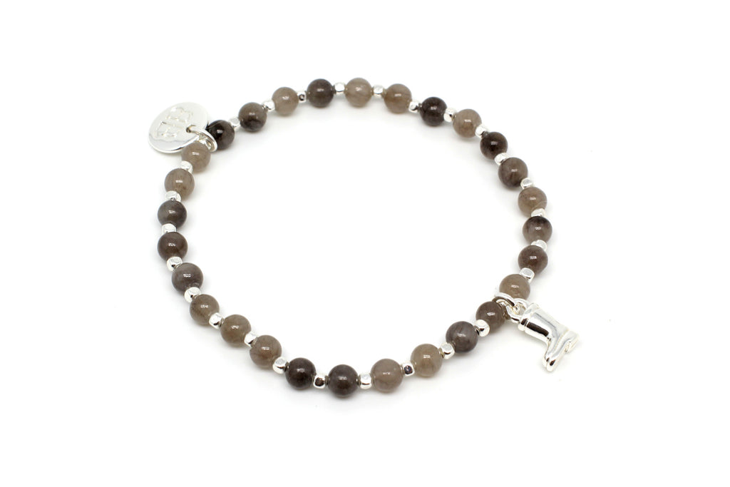 Sitar Grey Stretch Bracelet