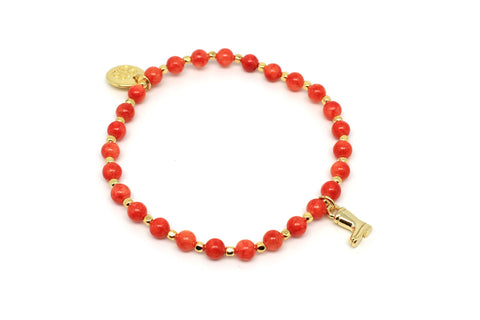 Sitar Orange Stretch Bracelet