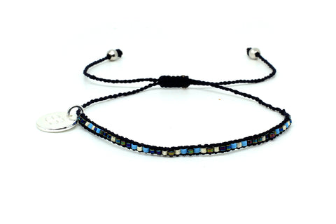 Songman 1 Row Blue Beaded Bracelet