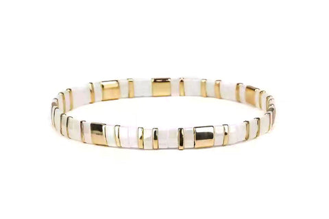 Mercy Tila Bead Stretch Bracelet