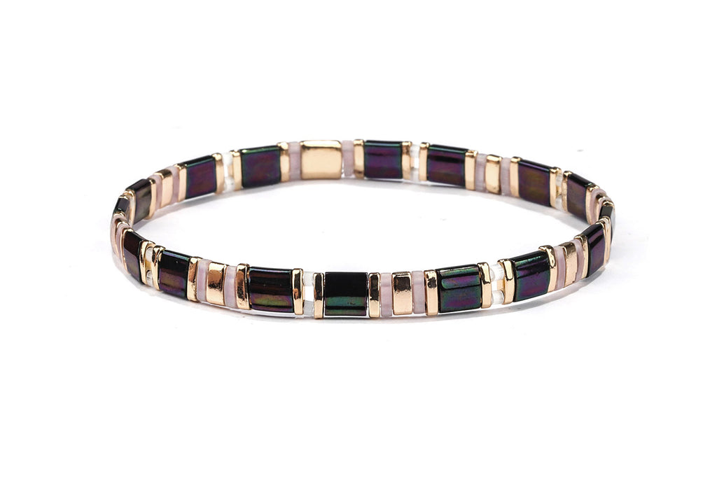 Contact Tila Bead Stretch Bracelet