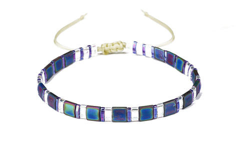 Smooth Tila Beaded Friendship Bracelet