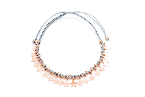 Tombak Multi Star Rose Gold Bracelet