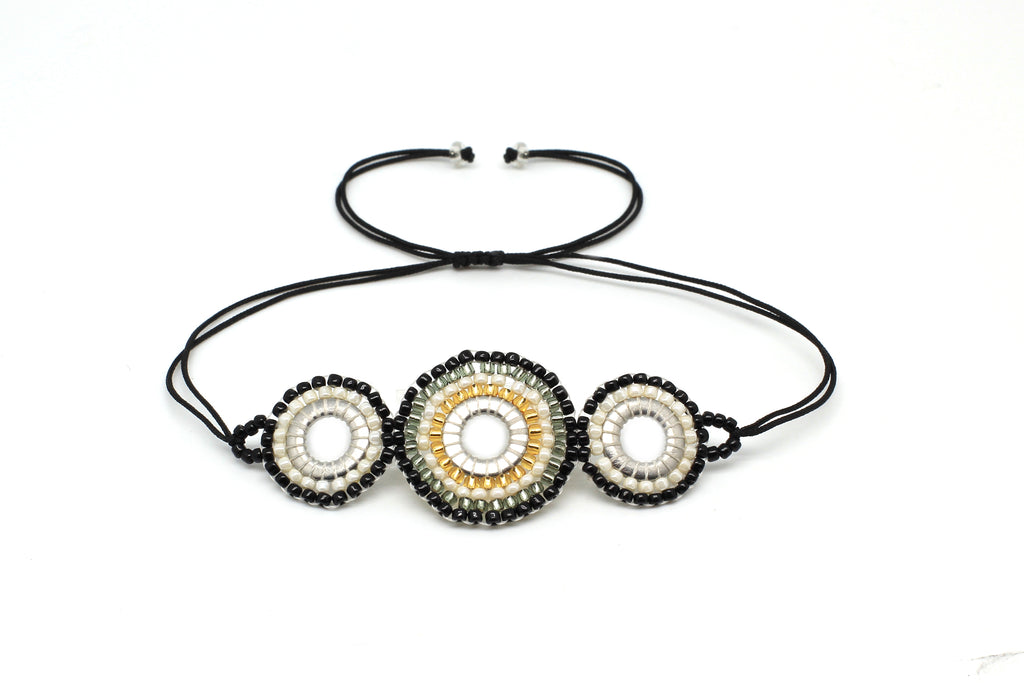 Tuba Black Beaded Friendship Bracelet