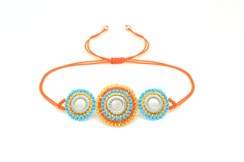 Tuba Orange Beaded Friendship Bracelet