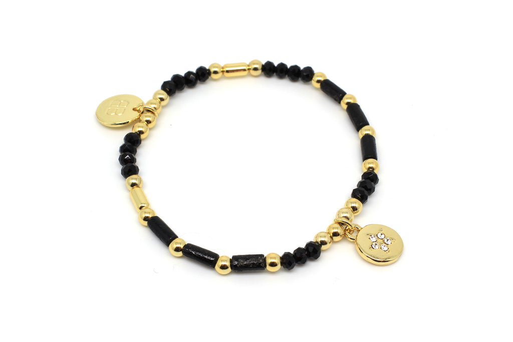 Violin Black Stretch Bracelet
