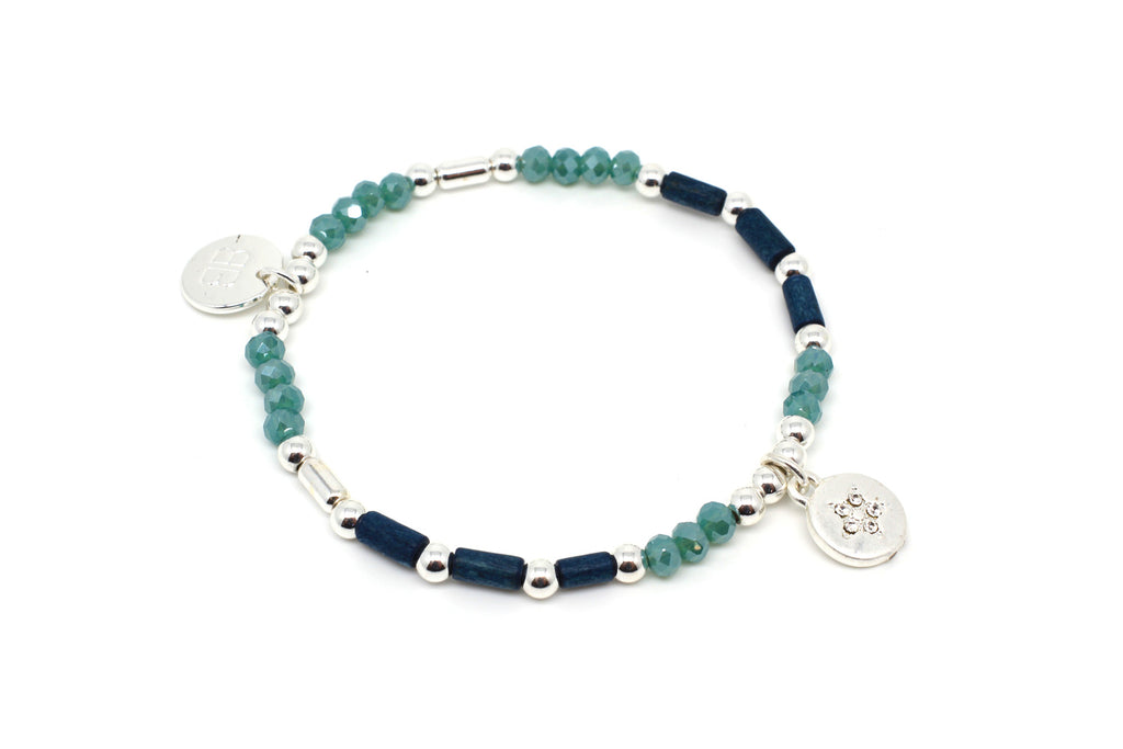 Violin Teal Stretch Bracelet