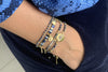 Paradise Navy Blue & Gold Beaded Friendship Bracelet - Boho Betty