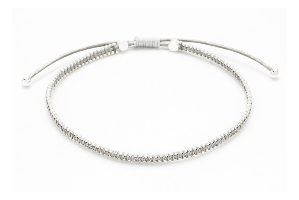 Euphonium Silver Pull Through Woven Bracelet - Boho Betty