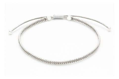 Euphonium Silver Pull Through Woven Bracelet