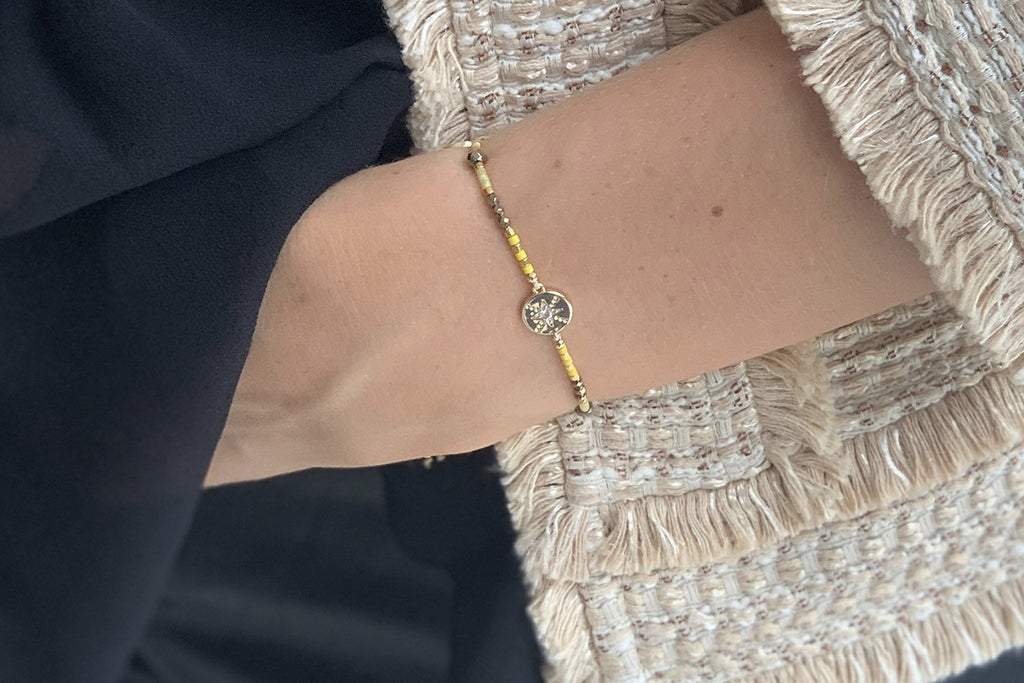 Goji Gold Miyuki Bead Friendship Bracelet - Boho Betty
