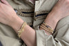 Whistle 4 Layered Gold Bracelet Stack with Lightning Bolt Fastener - Boho Betty