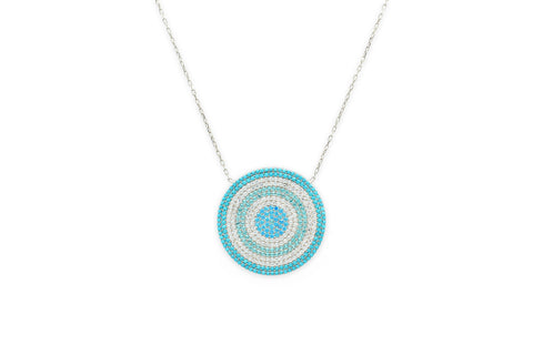 Briottet CZ Silver Mint Disc Beaded Necklace
