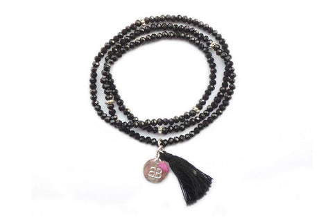 Buzzard Stretchy Tassel Wrap Bracelet