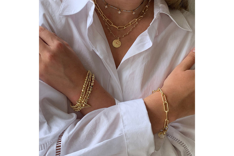 Hora Gold 3 Layer Chunky Chain Necklace Set - Boho Betty