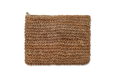Claucus Hessian Clutch Bag