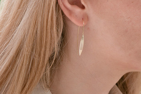 Cyrus Gold on Sterling Silver Spear Thread Through Earrings